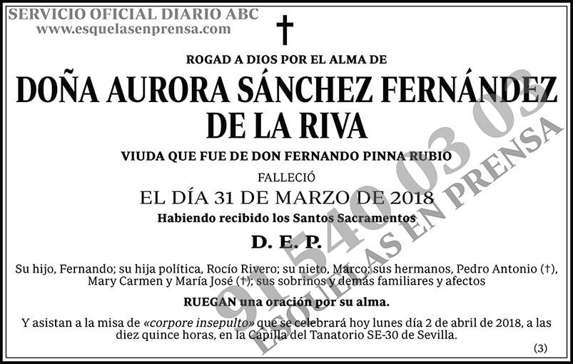 Aurora Sánchez Fernández de la Riva